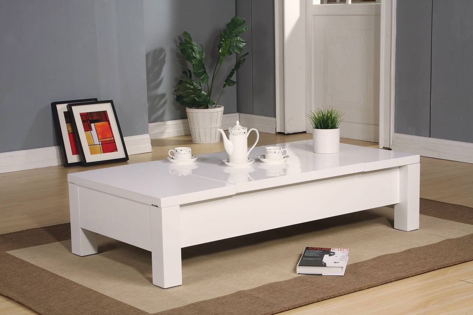 Image of: Lift Top Coffee Table White