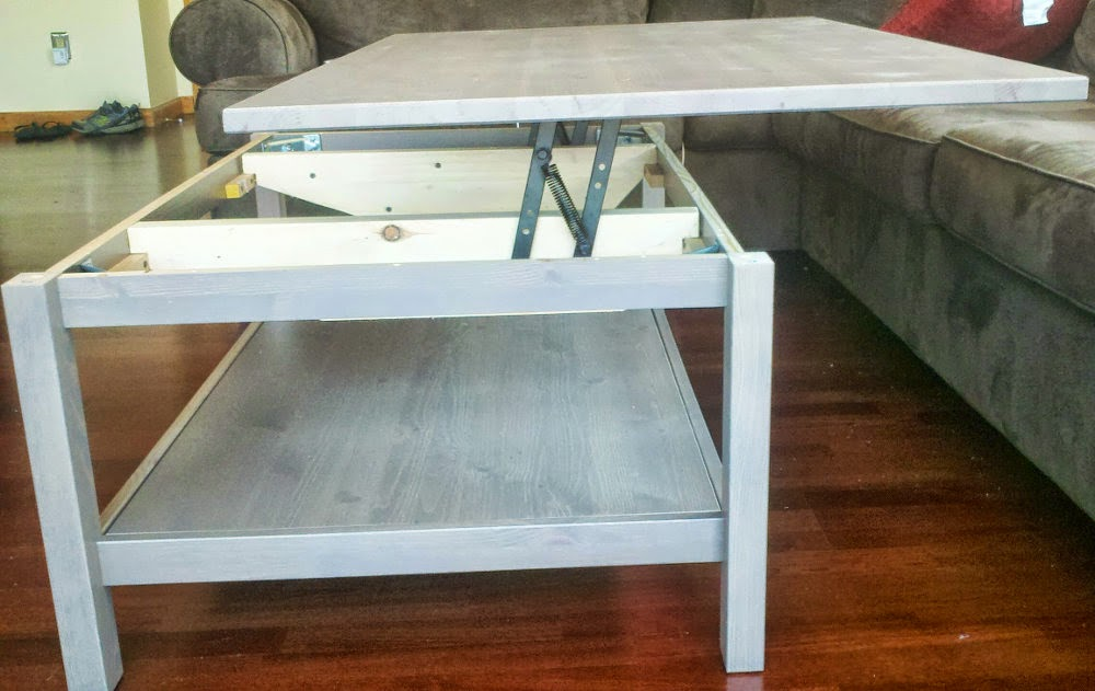 Image of: Lift top coffee table design