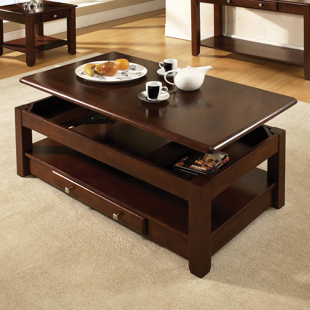 Image of: Lift top coffee table image