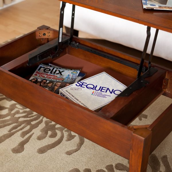 Image of: Lift top coffee table with storage