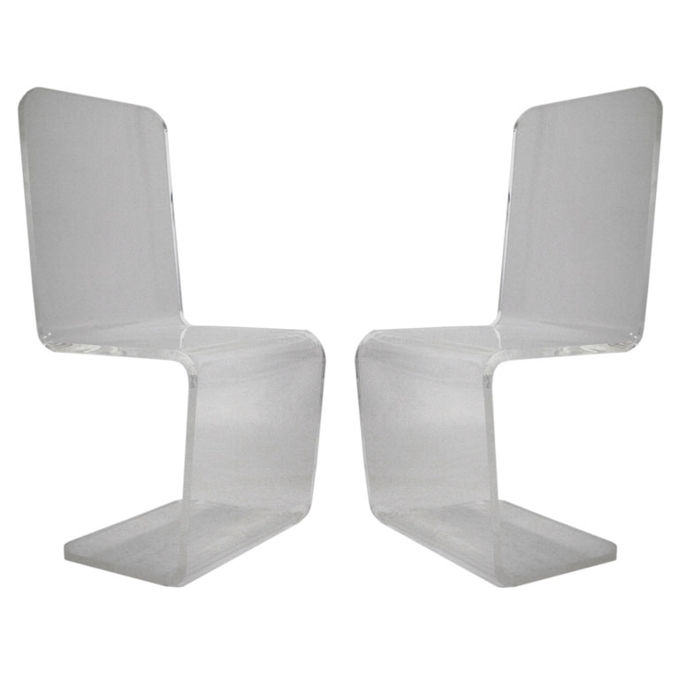 Picture of: Lucite chairs cleaner