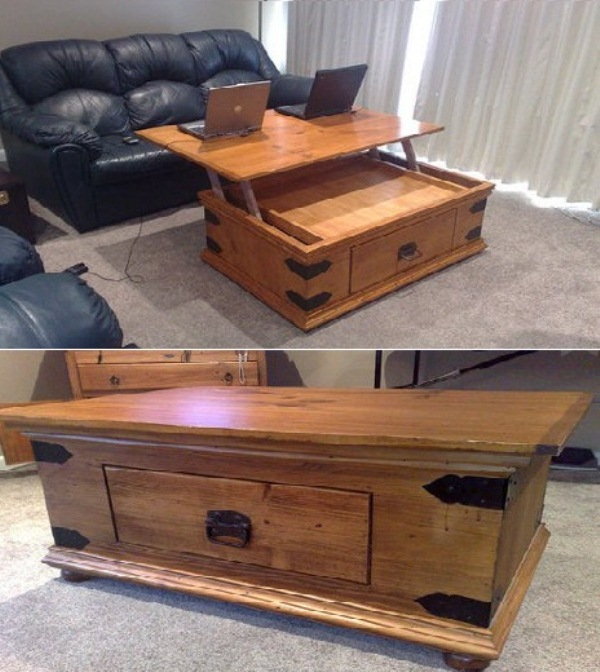 Image of: Make lift top coffee table