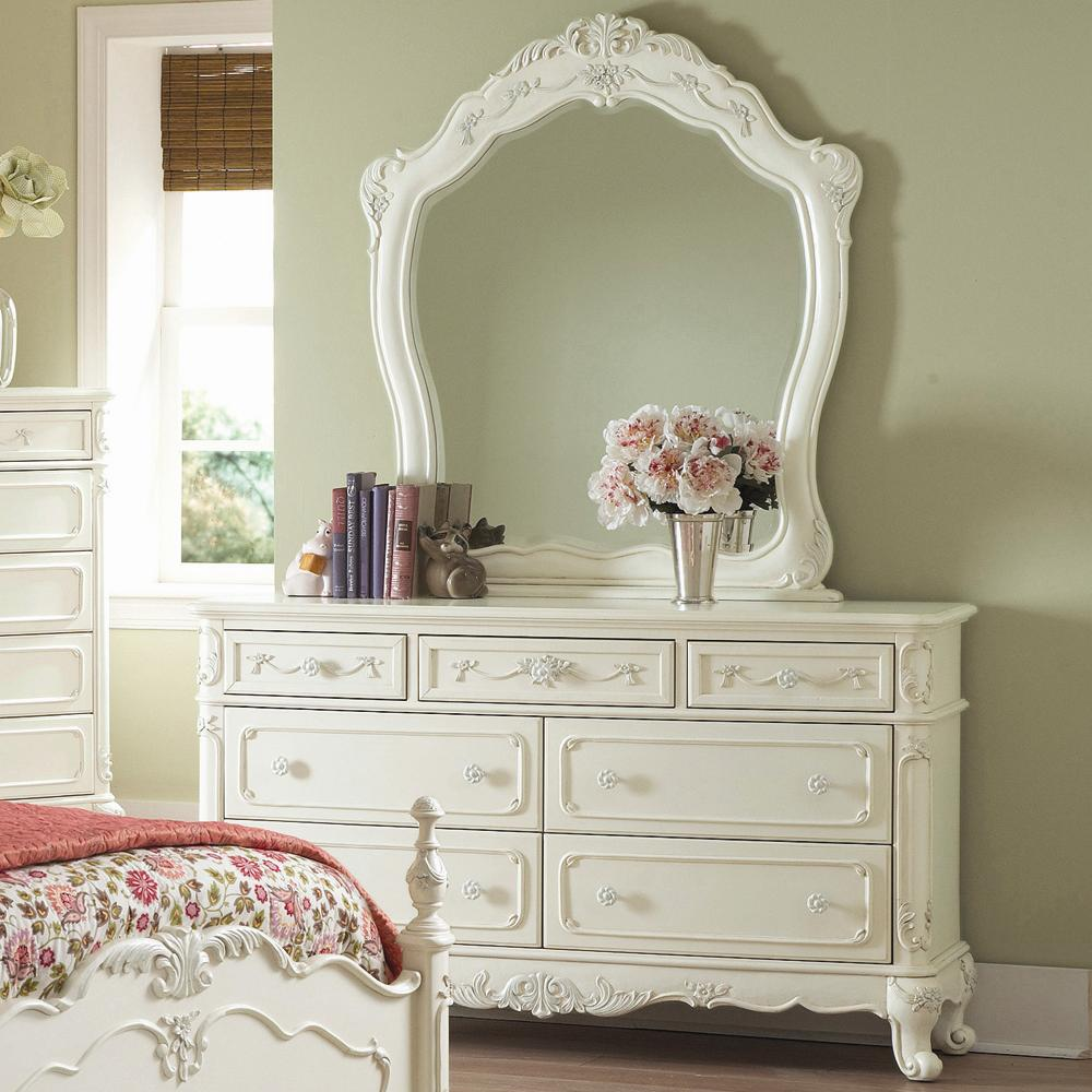 Image of: Mirrored Dresser  design elegant white