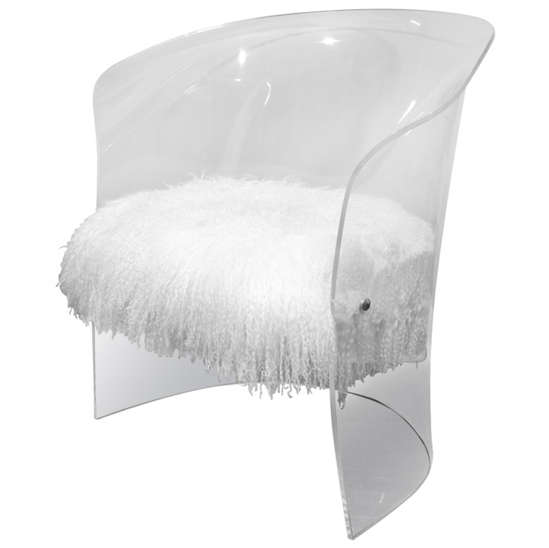 Picture of: Modern lucite chairs