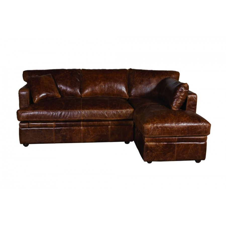 Image of: Nevada Italian Leather Corner Sofa