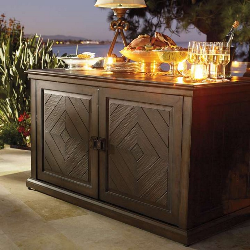 Image of: Outdoor Console Table with Storage