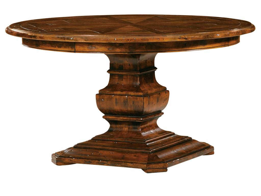 Picture of: Pedestal Dining Room Table