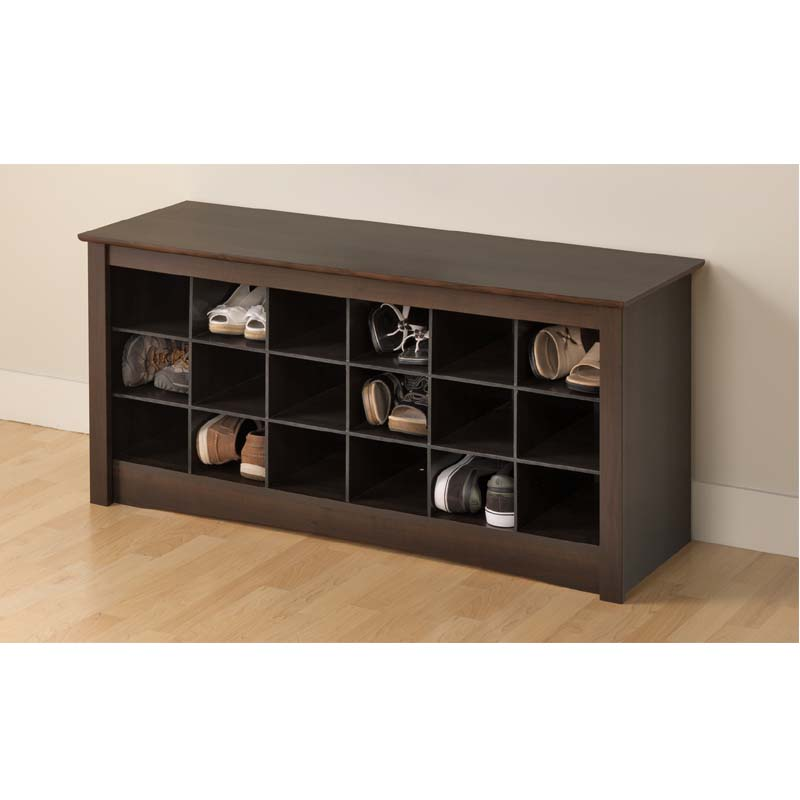 Picture of: Prepac Entryway Shoe Storage Cubbie Bench