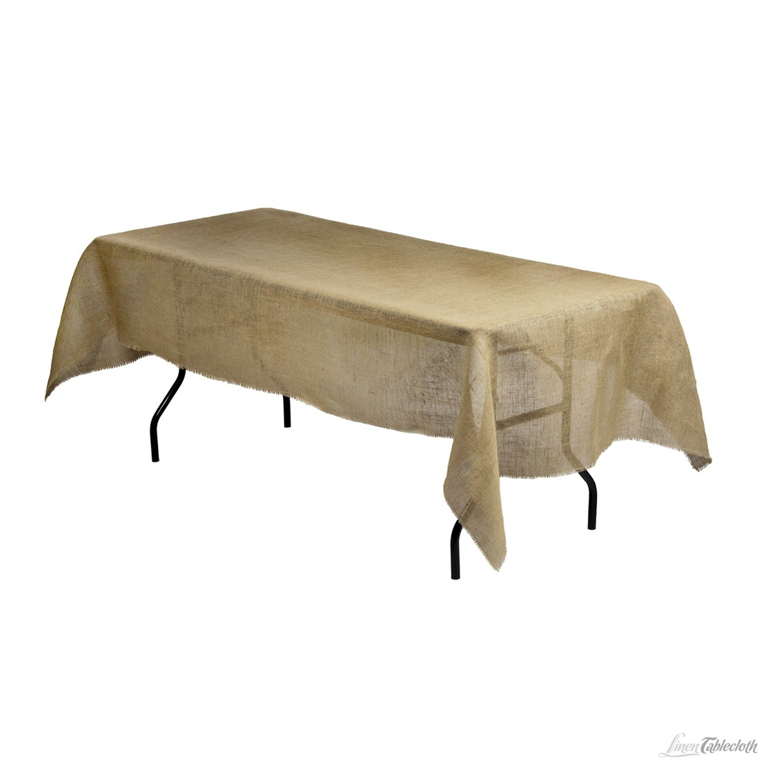 Picture of: Rectangular Burlap Tablecloth