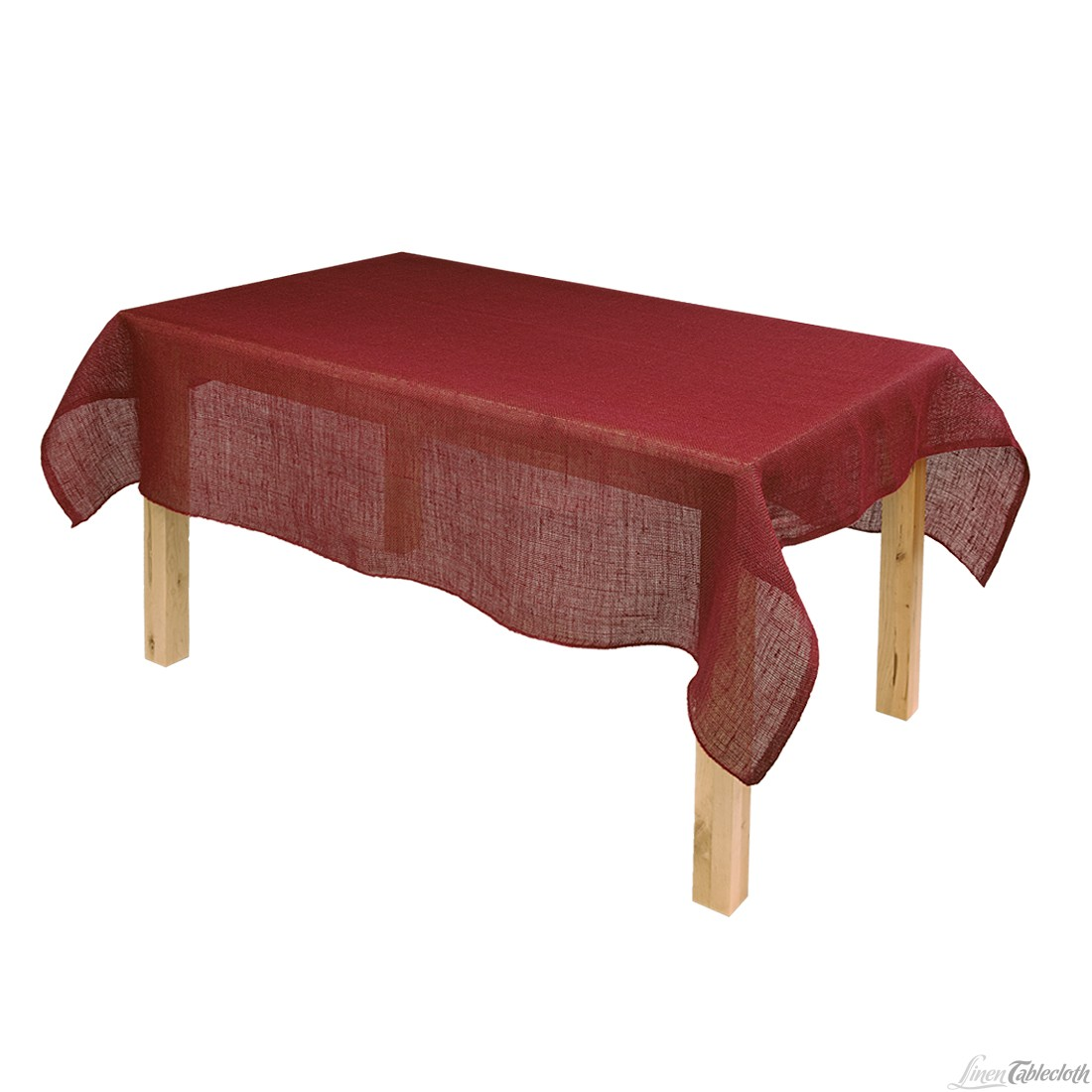 Picture of: Red Burlap Tablecloth