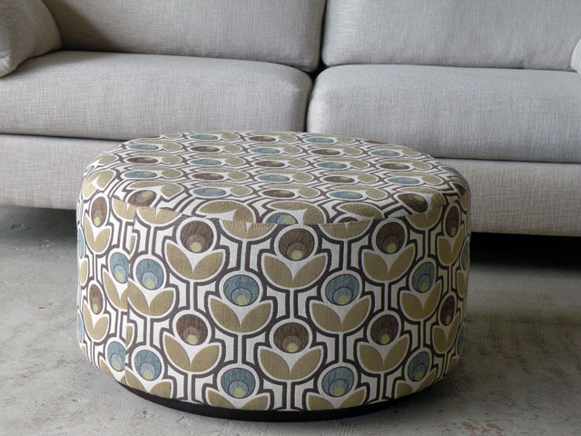 Picture of: round ottoman coffee table decor