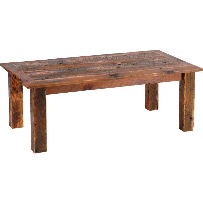 Image of: Rustic Barnwood Coffee Table