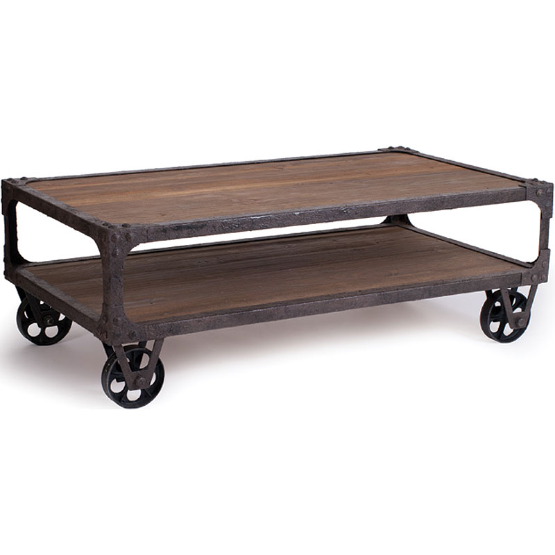 Image of: Rustic Industrial Coffee Table