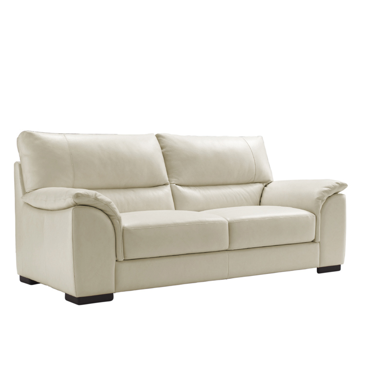 Image of: Seattle  Italian Leather Seater Sofa white