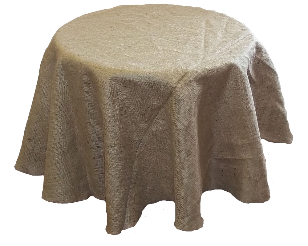 Simple Burlap Tablecloth