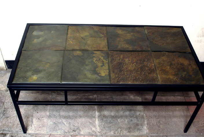 Image of: Stone Coffee Table design