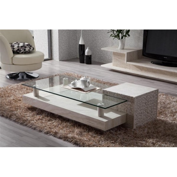 Image of: Stone Coffee Table ideas