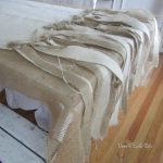 Trendy Burlap Tablecloth