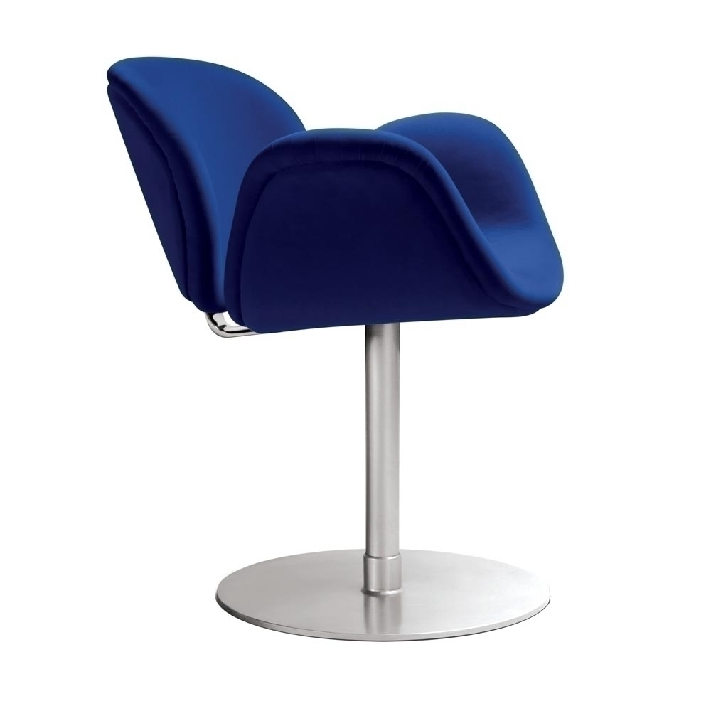 Image of: Tulip chair with blue
