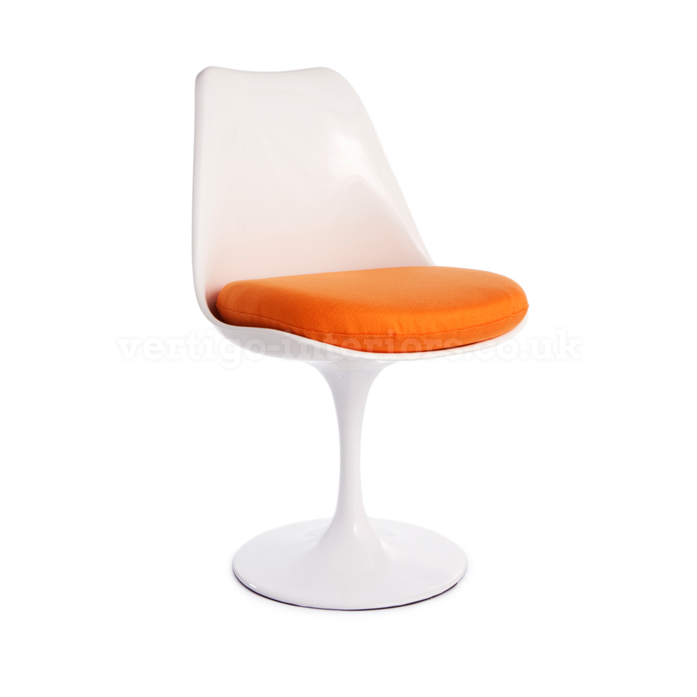 Image of: Tulip chair with orange