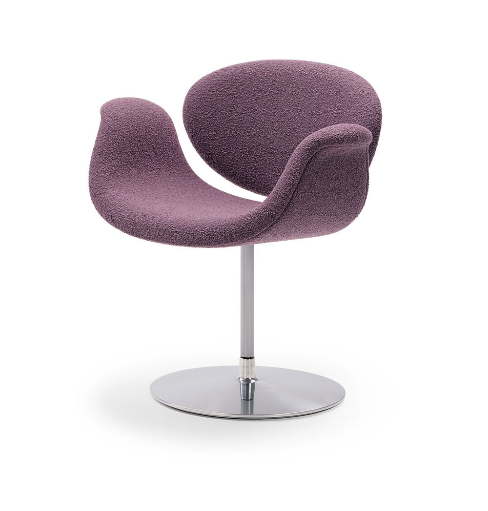 Image of: Tulip chair with purple design