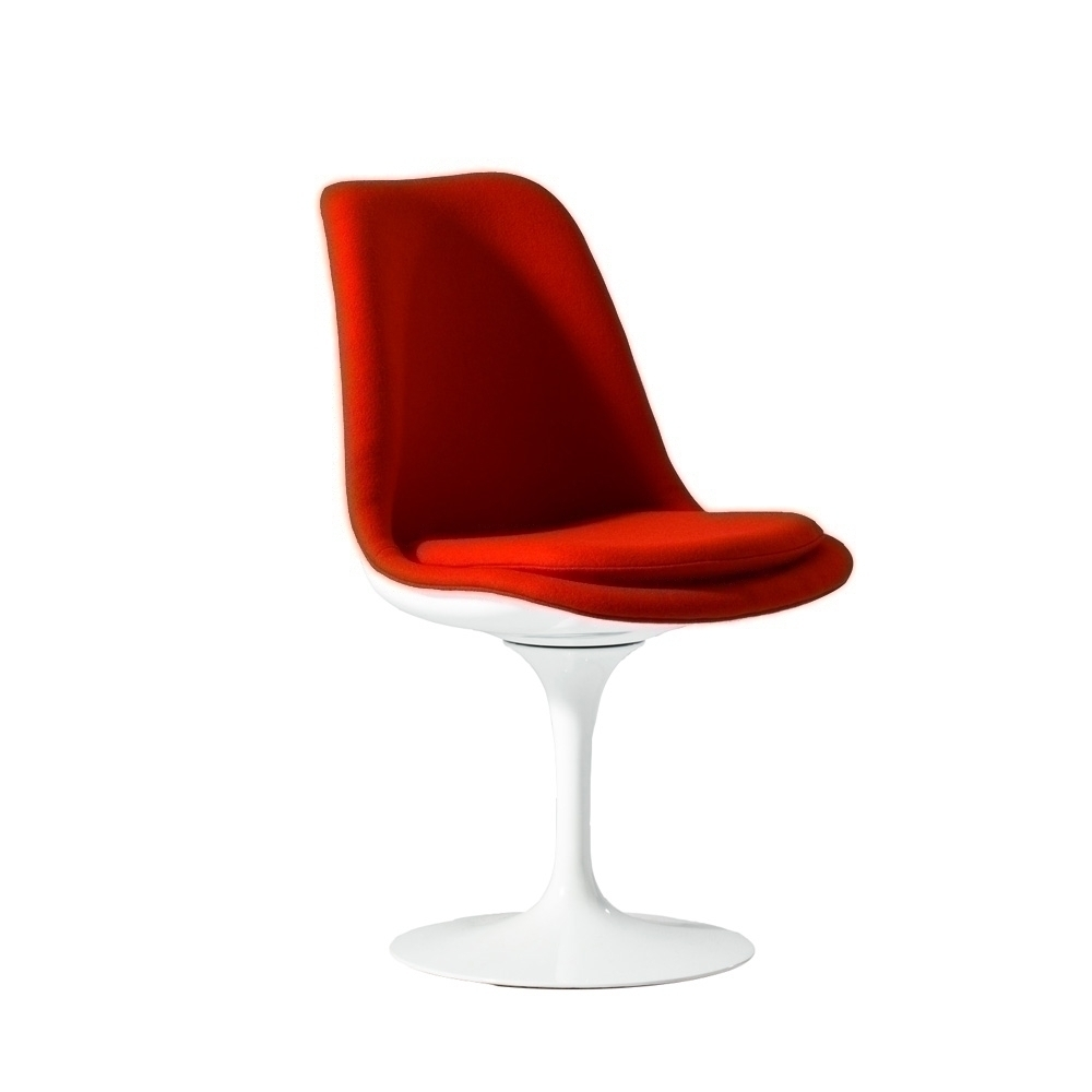 Image of: Tulip chair with red