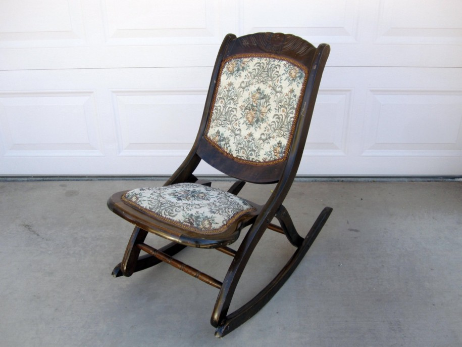 Image of: Upholstered Rocking Chair Modern Style