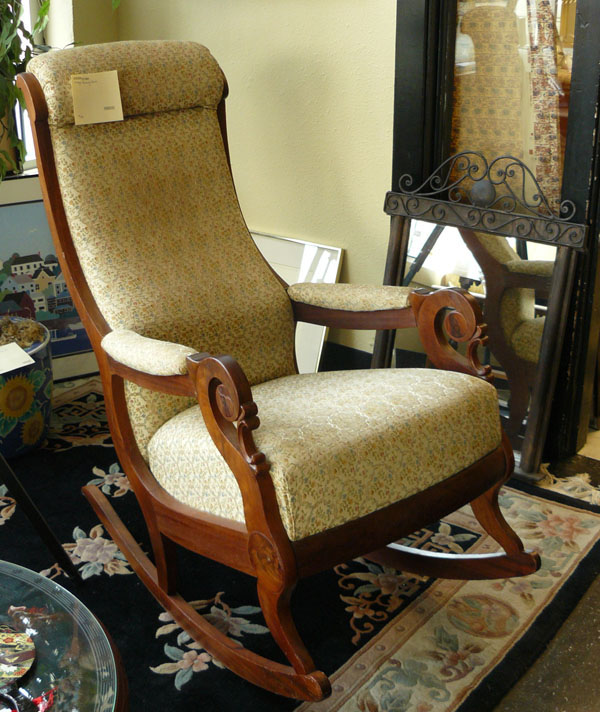 Image of: Upholstered Rocking Chair Picture