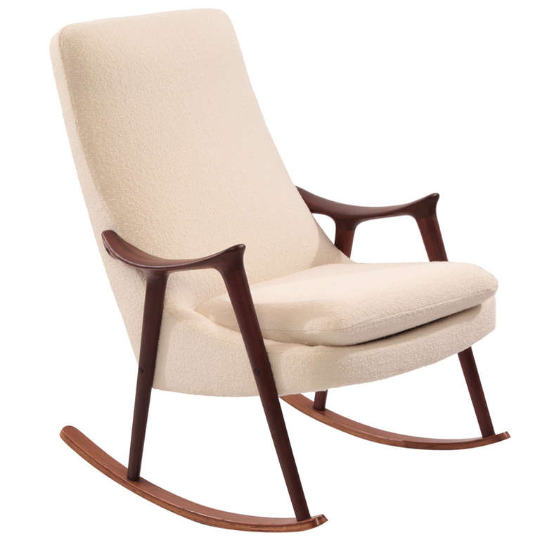 Image of: Upholstered Rocking Chair