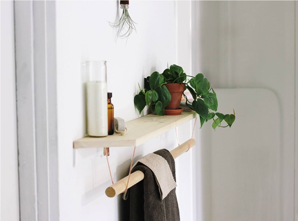 Used Towel Rack Shelf