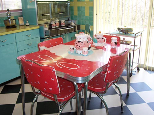 Image of: Vintage Retro Kitchen Table