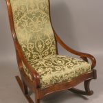 Vintage Upholstered Rocking Chair