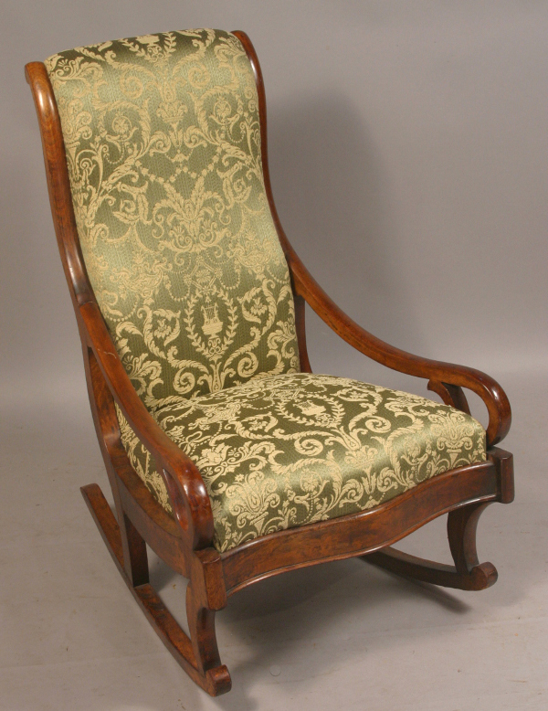 Image of: Vintage Upholstered Rocking Chair