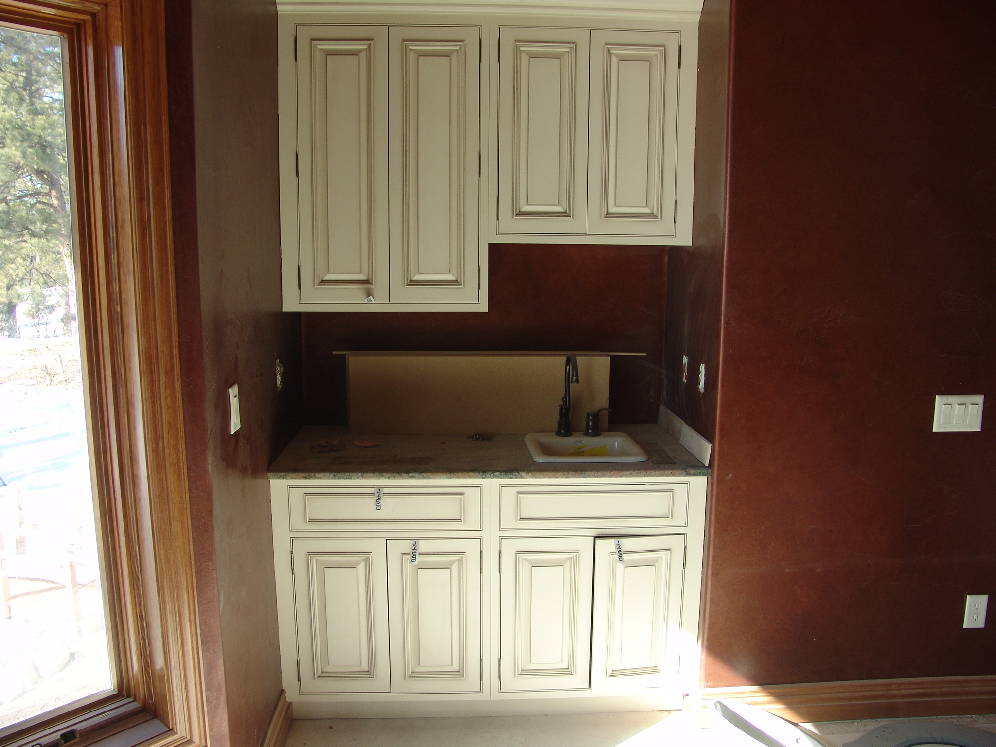 White Wet Bar Cabinets