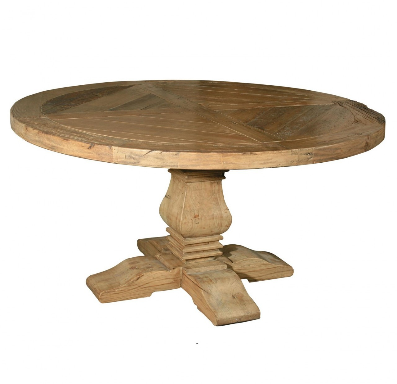 Picture of: Wood Pedestal Dining Room Table