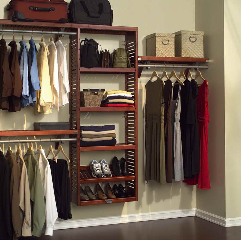 Wood closet organizers design ideas