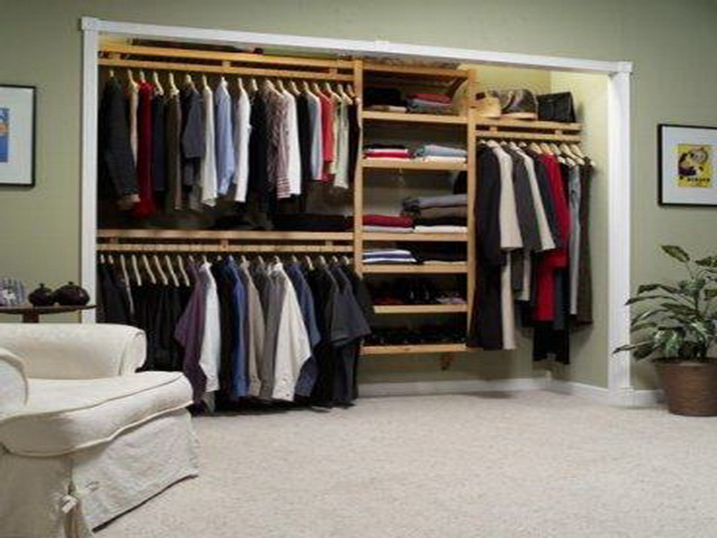 Image of: Wood closet organizers image
