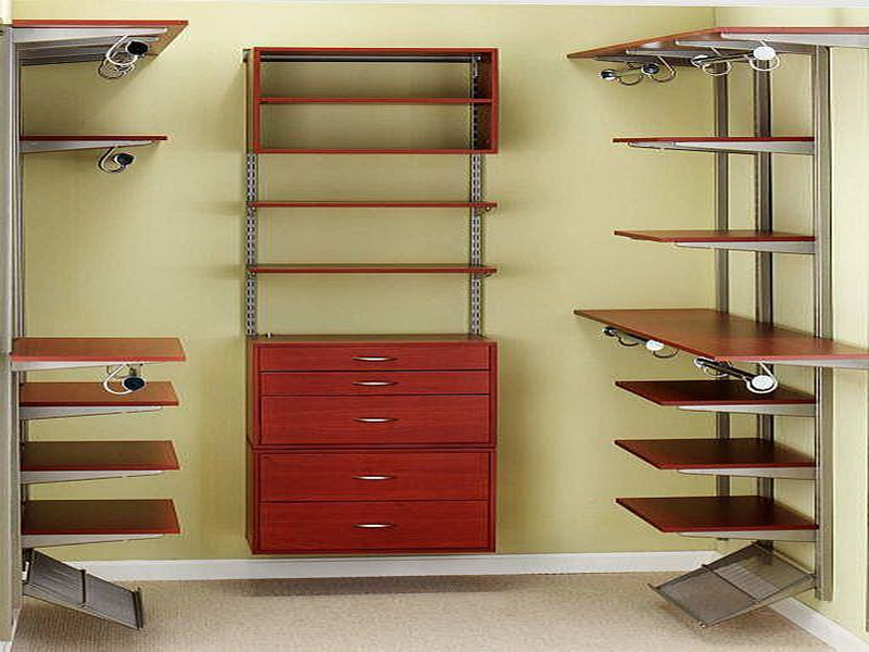 Image of: Wood closet organizers picture