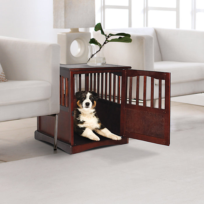 Wooden Contemporary Dog Crate End Table Ideas
