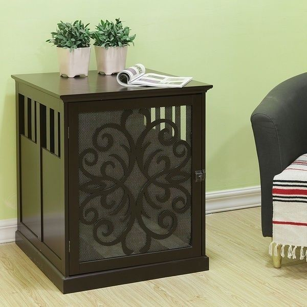 Image of: Wooden Contemporary Dog Crate End Table