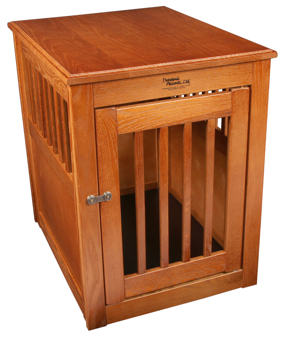 Image of: Wooden Dog Crate End Table