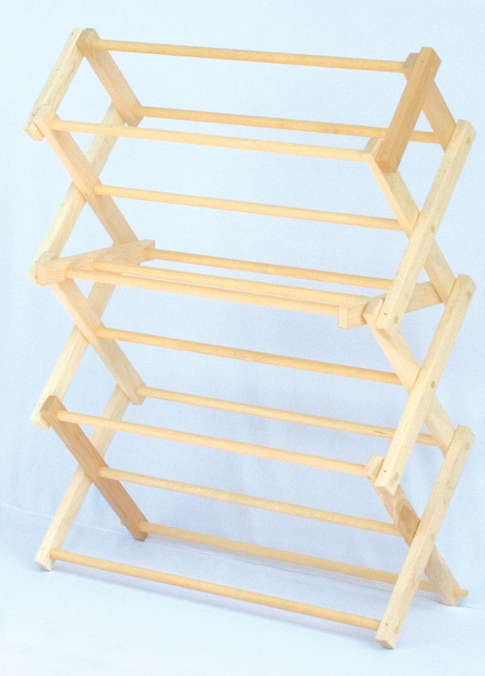 Image of: Wooden Laundry Drying Racks
