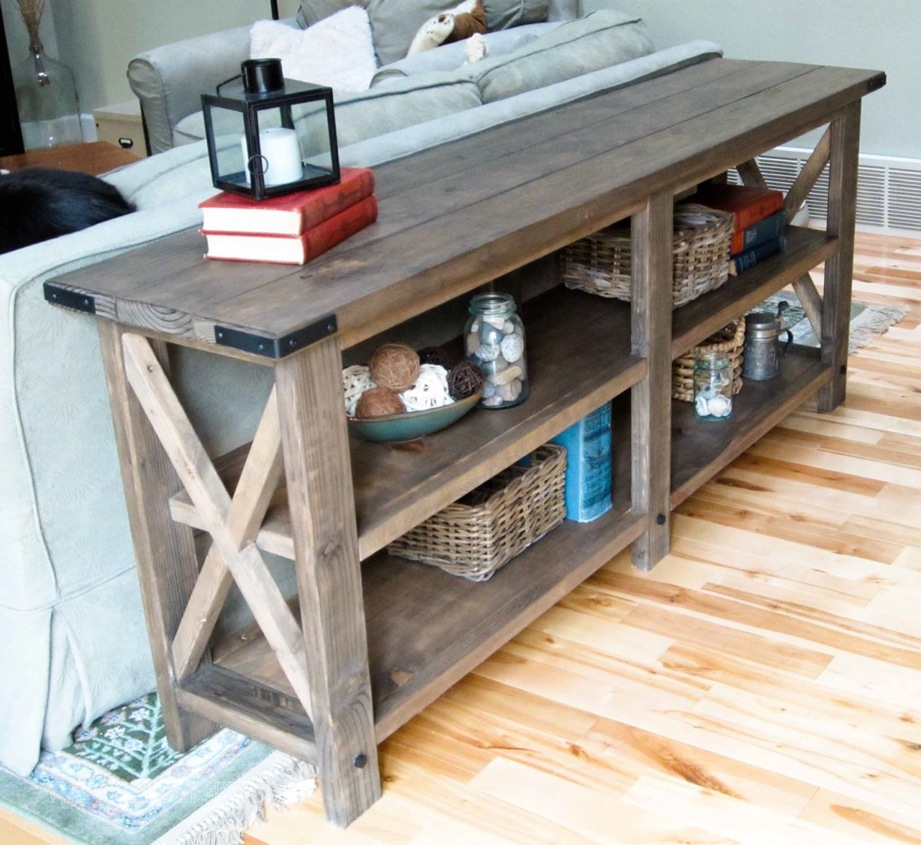 Image of: Wooden Outdoor Console Table