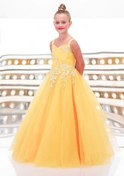 Image of: Yellow Dresses for Kids