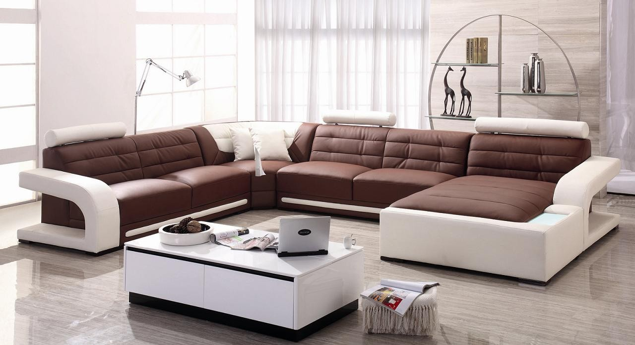 Image of: affordable leather sectional sofas