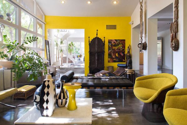 Image of: amazing yellow accent chair