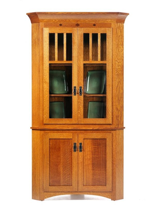 Image of: amish corner hutch
