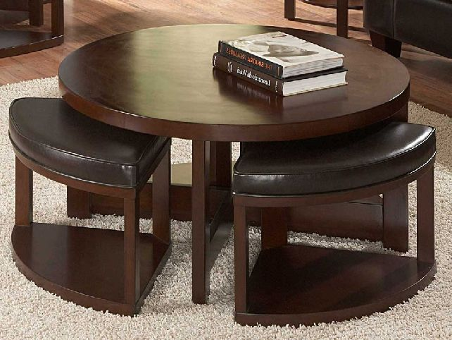 Picture of: awesome round ottoman coffee table