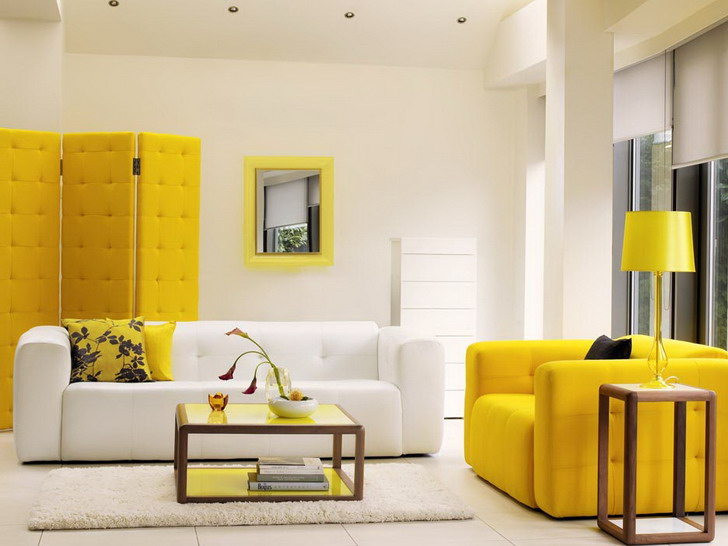 Image of: awesome yellow accent chair