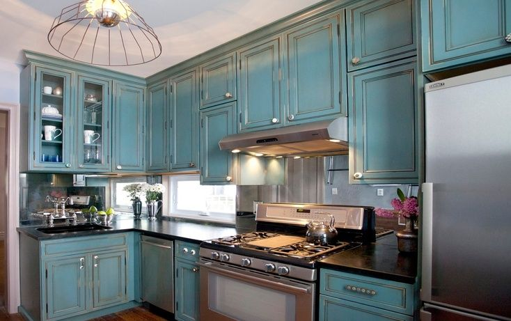 Image of: beautiful rustic kitchen cabinets